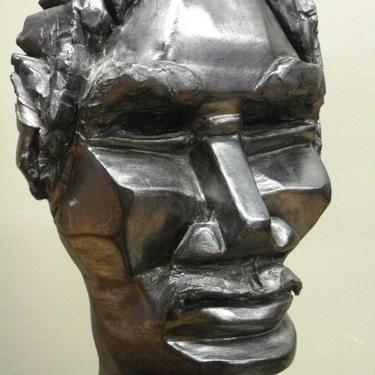 Claire Goldstein male head sculpture, cubist, modernist, brutalist by PREVIEWMOD