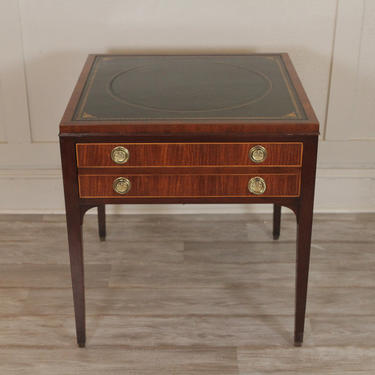 Kittinger Leather Top One Drawer Table