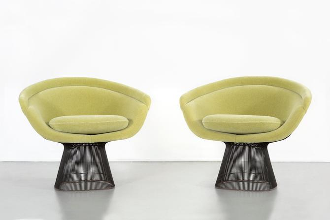 Set of Mid-Century Modern Bronze Platner Lounge Chairs for Knoll by MatthewRachman