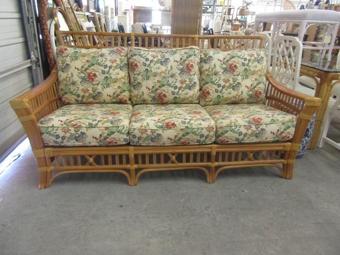 Island Style High Back Rattan Sofa
