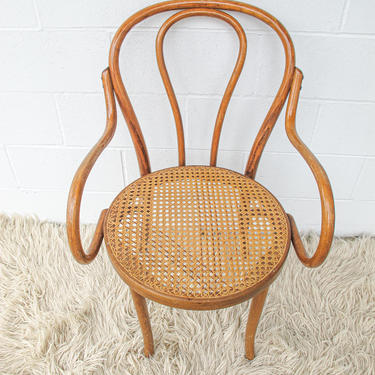 Vintage Thonet Style Chair with Cane Seat and Bentwood Frame by PortlandRevibe