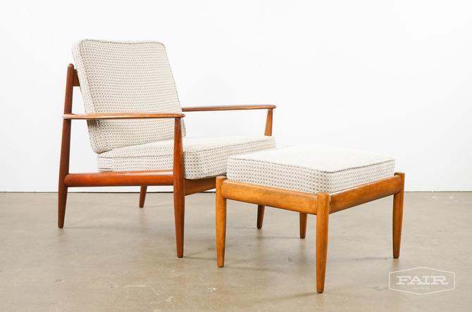 Teak Lounge Chair and Ottoman by John Stuart