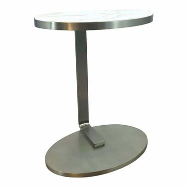 Caracole Modern Marble Top High Tide Side Table