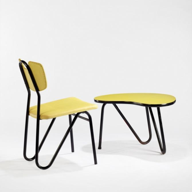 Pierre Guariche Prefacto Chair and Table