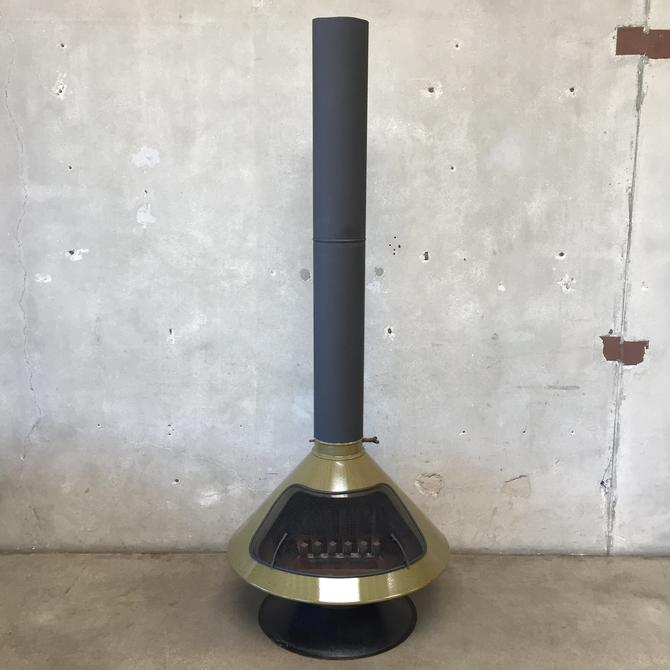 Vintage Mid Century Green Speckled Majestic Fireplace