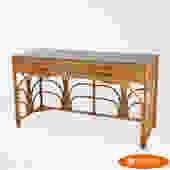 Woven Rattan Desk