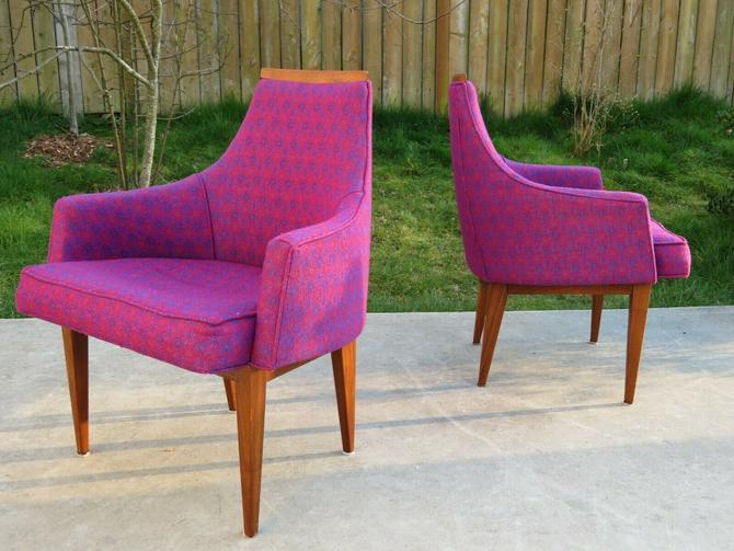 VTG Pair of KIPP STEWART for CAL-MODE Calvin DINING or SIDE CHAIRS Mid Century