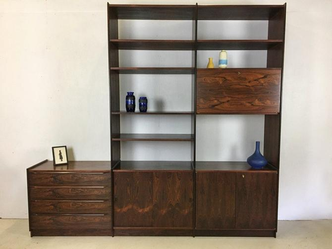 Danish Modern Rosewood Wall Unit from Norway by retrocraftdesign