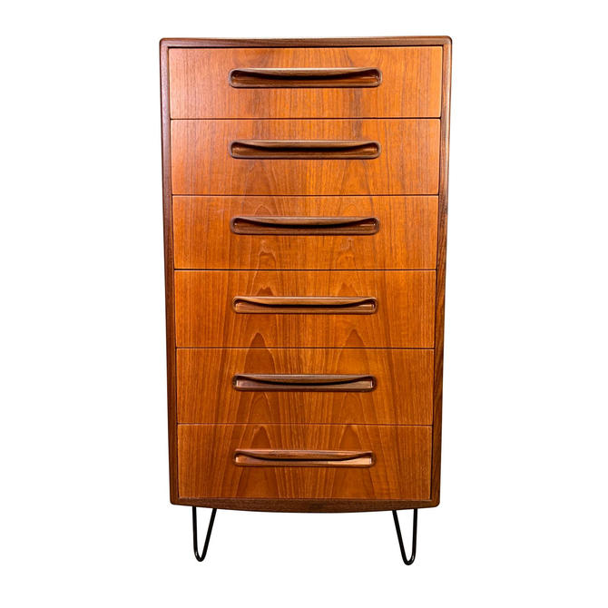 Vintage G Plan British Mid Century Modern Teak Highboy Dresser by AymerickModern