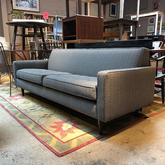 "Fabulous Room and Board Midcentury Modern houndstooth Sofa! Only $625!!! 85"" Long, 33"" Deep, 31"" High"