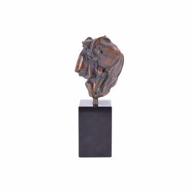 Vintage Mid-Century Modern Brutalist Abstract Bronze Heart Sculpture numbered #2 by PrairielandArt