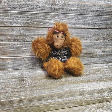 Vintage 1988 ALF Hand Puppet, Born to Rock Burger King Alf Plush Toy Doll, Alien Productions, Alf TV Character, TV Show Alien, Vintage Toys by AGoGoVintage