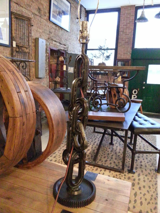 Pair Of Salvaged Repurposed Vintage Anchor Chain Lamps by StateStreetSalvage