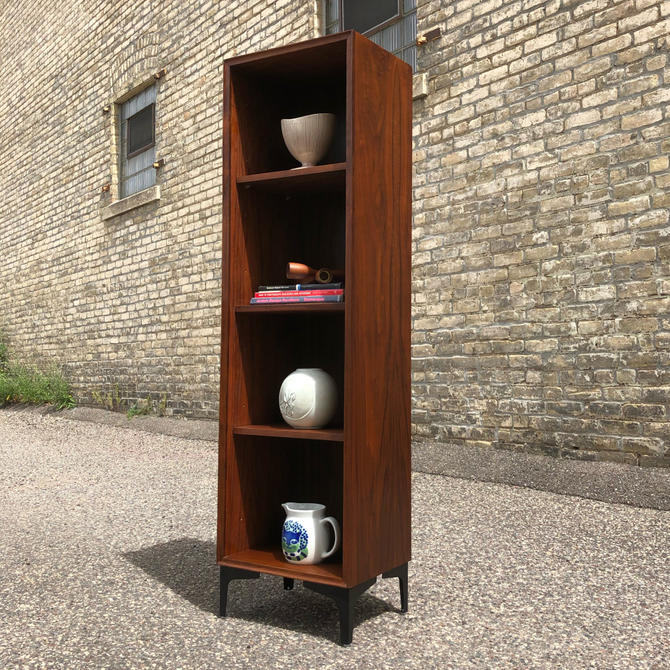 Slim Walnut Bookcase