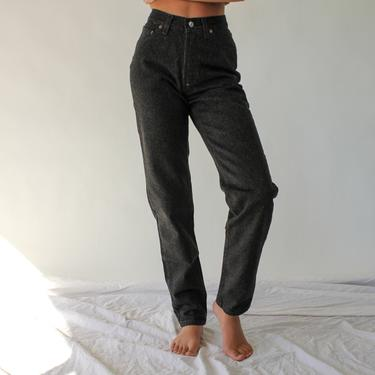 Vintage 80s LEVIS Womens Black Raw Wash 501 High Waisted Jeans Unworn New w/ Tags | Made in USA | Size 24/25 | 1980s LEVIS Boho Denim Pants by TheVault1969