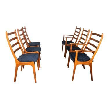 Set Of 6 Danish Modern Teak Dining Chairs By Kai Kristiansen by RetroPassion21