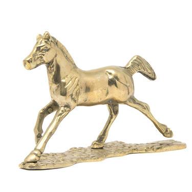 Vintage Brass Horse Figurine, Brass Pony by GreenSpruceDesigns