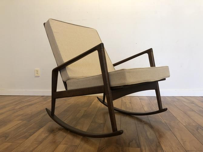 Italian Mid Century Rocking Chair