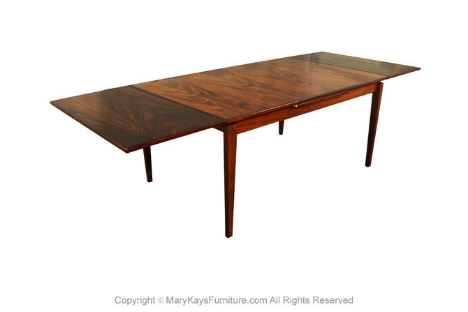 Danish Rosewood Extra Large Extendable Dining Table by Marykaysfurniture