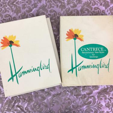 Vintage 60s Hummingbird Nude Sheer Nylon Seamless Stockings 4 boxes, 9 Pair Total Deadstock by FlashbackATX