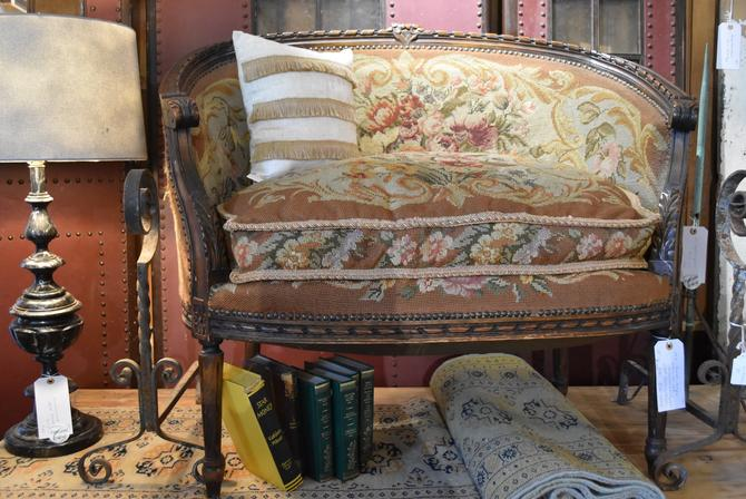 19th-Century French Antique Settee