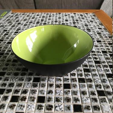 1960s Herbert Krenchel Danish Krenit Bowl Small Nut Condiment Vintage Mid-Century Modern Green Enamel Denmark MCM Dish by BrainWashington