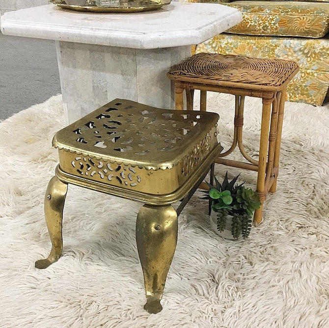 LOCAL PICKUP ONLY ------------- Vintage Metal Side Table by RetrospectVintage215
