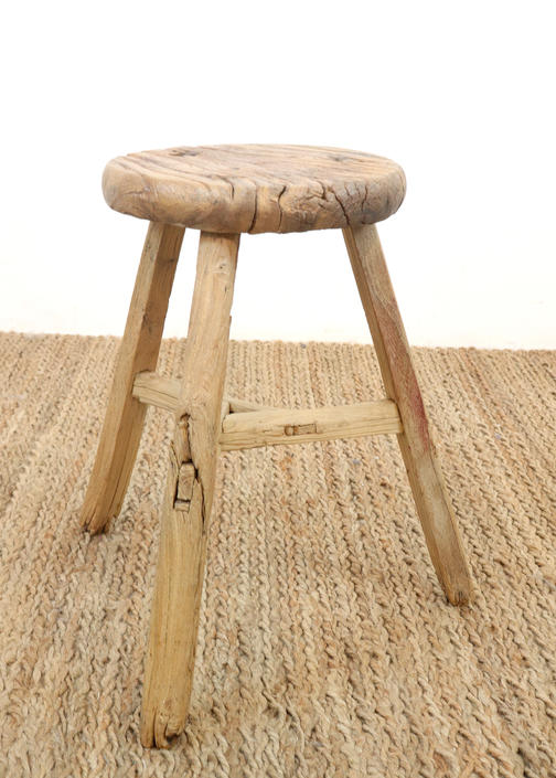 Reclaimed Vintage Wood Stool