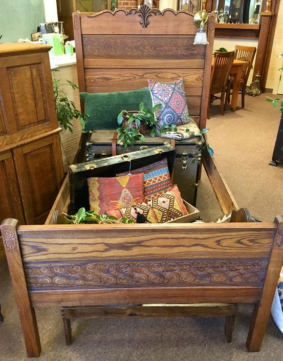 Circa 1890 Eastlake Style Oak Bed