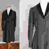 1950's Black Dress // Taffeta and Velvet // Medium by LawrenceOfBaltimore