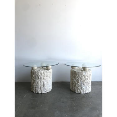 Pair of Mactan Tessellated Side Tables by VintageOnPoint