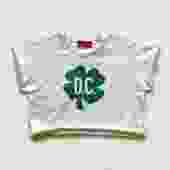 District Clover Cropped Sweatshirt (White)