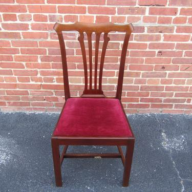 Set of 4 Four George III Style Mahogany Dining Chairs 19th Century Chippendale by LarkinsAtticHUDSONNY