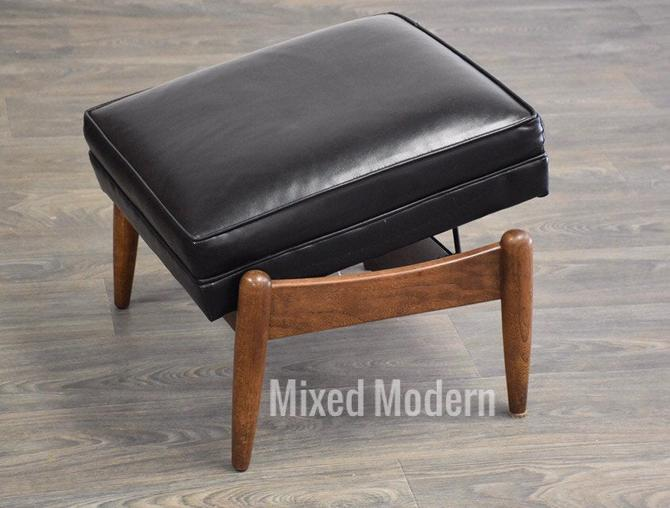 Mid Century Black Tilting Ottoman by mixedmodern1
