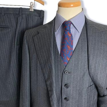 Vintage 1970s BROOKS BROTHERS Wool Flannel 3pc Suit ~ 42 Long ~ vest / waistcoat ~ pants / jacket / sport coat ~ Preppy / Ivy Style / Trad by SparrowsAndWolves