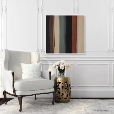 "Canvas Art 30""x30"" & 36""x36"" Sale Home Decor Abstract Minimalist Art Modern Contemporary Original Design Commission ArtbyDinaD by ArtbyDinaD"