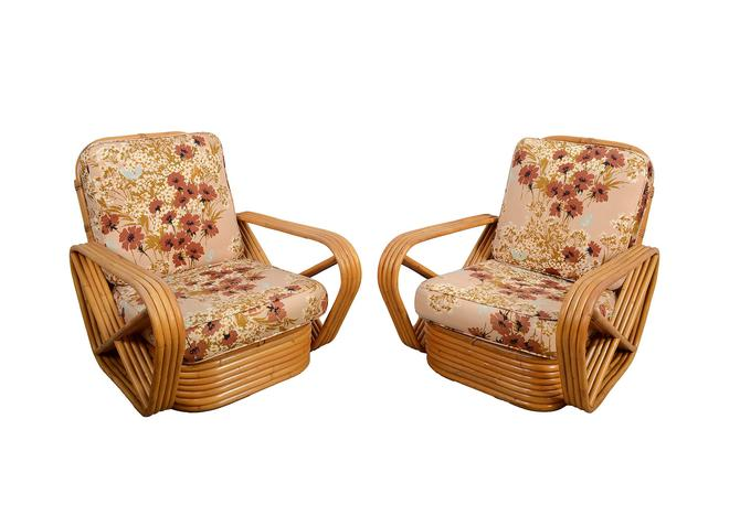 Bamboo and Rattan Arm Chairs made by Frankl Style Pretzel Arms by HearthsideHome
