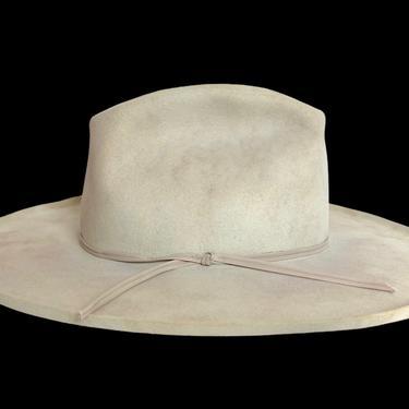 Vintage STETSON Western Hat ~ size 7 1/8 to 7 1/4 ~ Cowboy ~ Pencil Curl ~ Fur Felt Fedora ~ Wide Brim ~ 4X Beaver ~ Rancher by SparrowsAndWolves