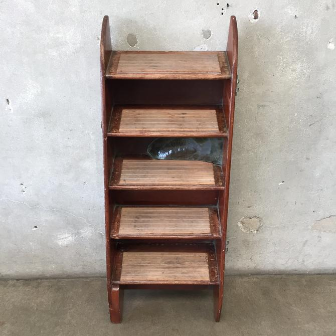 Vintage Five Step Wood Boat Ladder