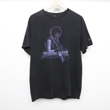 vintage 90s JIMI HENDRIX purple haze cotton oversize men's vintage 1990s rock tour t-shirt -- size large size by CairoVintage