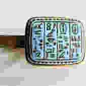 Hieroglyphic Tie Bar Pressed Glass by LegendaryBeast