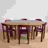 1962 Walnut Dux Dining Table w/ Two Leaves, Sweden