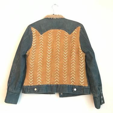 Mustard Sherpa Lined Jean Jacket
