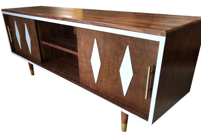 Mid Century TV Console Media Cabinet by OrWaDesigns