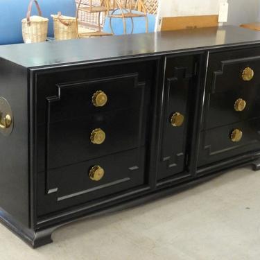 Asian Inspired Fretwork Shadow Box Dresser
