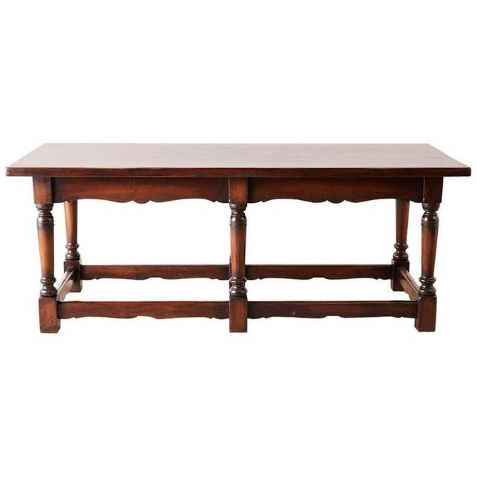 Italian Baroque Style Refectory Table or Library Table by ErinLaneEstate