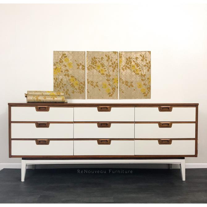 Mid Century Modern 9 Drawers Long Dresser by RenouveauFurniture