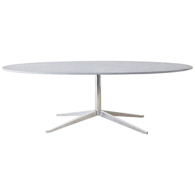 Knoll Unpolished Granite Oval Dining Table by ErinLaneEstate