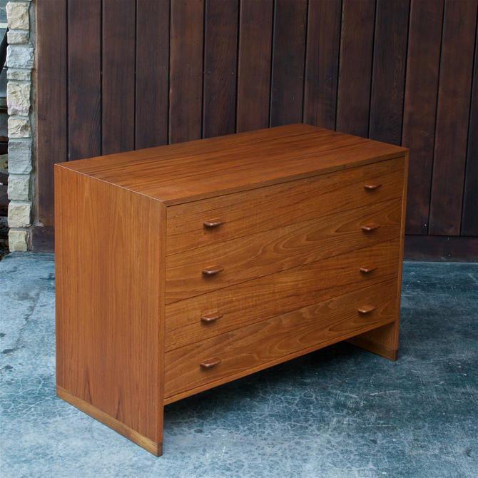 1950s Hans Wegner Teak Oak Danish Dresser Scandinavian Cabinet  Vintage Mid-Century by BrainWashington