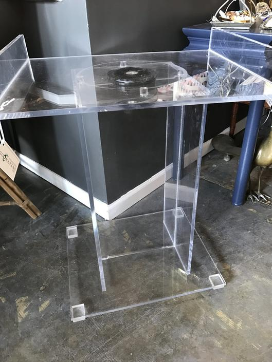 Mid Century Lucite Bar with removable swivel tray